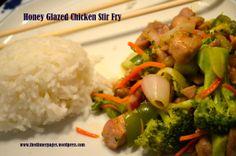 Honey Glazed Chicken Stir Fry Best Chicken Recipes, Grilled Chicken Recipes, Chicken Stir Fry, Slow Cooker Chicken, Skinny Recipes, Healthy Recipes, Healthy Foods, Yummy Recipes, Honey Glazed Chicken
