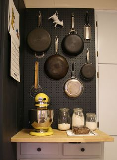 find this pin and more on aa pegboards in the kitchen - Kitchen Pegboard Ideas
