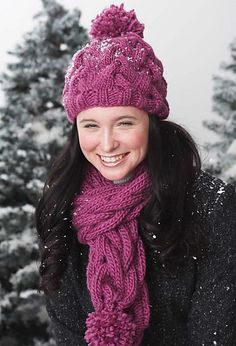 Cute chunky cables are a go-to style for the winter. Knit in Bernat Roving. (Bernat.com)