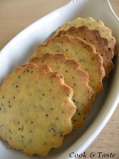 Sablés sans gluten aux maïs, quinoa, citron et pavot