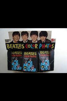 VINTAGE: 1964 TOPPS/BAZOOKA OPC ORIGINAL AUTHENTIC BEATLES COLOR PHOTOS NR COMPLETE BOX. (19 PKS) Sells for $2,950.