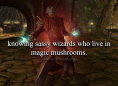 Sassy wizards sometimes deserve to be sassy. The magic mushroom........I cant explain that one.