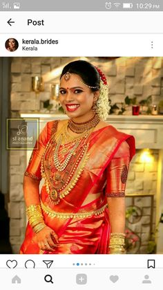 Kerala Hindu Bride, Kerala Wedding Saree, Saree Wedding, Diamond Jewellery, Bridal Jewellery, Jewelry, Blouse Styles, Indian Bridal, Destiny