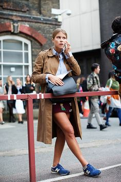 On the Street….After Christopher Kane, London New Balance