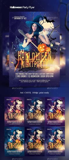 Halloween Party Flyer Template PSD #design Download: http://graphicriver.net/item/halloween-party-flyer/13115982?ref=ksioks