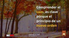 Comprender el caos es clave porque es el principio de un nuevo orden http://www.mktrojo.com/sobreviviralcaos