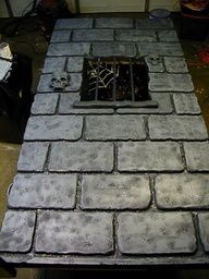 Dungeon wall from insulation
