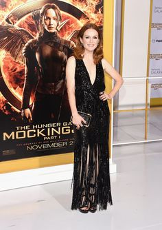 Jennifer Lawrence Steals the Spotlight at the Mockingjay Premiere: The cast of The Hunger Games: Mockingjay — Part 1 hit the red carpet for the movie's LA premiere on Monday, and Jennifer Lawrence stunned in a white dress.