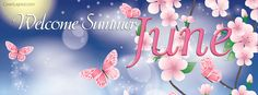 Welcome Summer June Facebook Cover coverlayout.com