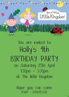 ben and holly party Ben And Holly Party Ideas, Ben And Holly Cake, Ben E Holly, Fairy Birthday Party, 4th Birthday Parties, Birthday Party Decorations, Birthday Party Invitations, 3rd Birthday, Birthday Ideas