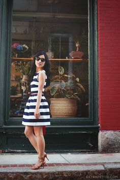 I adore the shape and stripes of this dress. Would suit my body shape I think!   Stripes & Sprinkles
