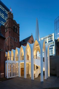 Palassis Architects' cathedral-like Cadogan Song School in Perth Australian Architecture, Architecture Awards, Church Architecture, Contemporary Architecture, Architecture Details, Urban Architecture, Modern Church, Facade Lighting, Facade Design