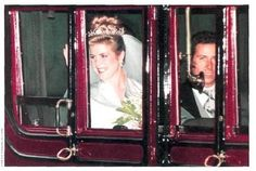 October 8, 1993: The wedding of Princess Margaret's son, Viscount David Linley to Miss Serena Stanhope at St. Margaret's Church in London.