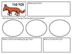 """THE GRUFFALO"", BY JULIA DONALDSON, PRINTABLES TO GO WITH THE BOOK! - TeachersPayTeachers.com"