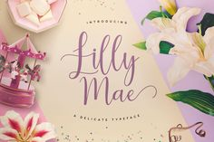 Lilly Mae is a swirly modern calligraphy style typeface bought to you exclusively from Font Bundles.