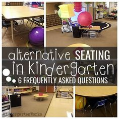 How to make alternative seating in kindergarten work for you and your students. 6 FAQ that can help make alternative seating in kindergarten happen! SIT, KNELL, STAND, JUST LEARN! Classroom Setting, Classroom Setup, Classroom Design, Future Classroom, Classroom Organization, Classroom Management, Class Management, Management Quotes, Classroom Arrangement