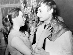 Putin dances with a classmate during a party in St. Petersburg in 1970.
