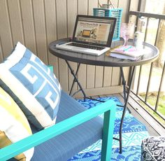 """50 Likes, 4 Comments - Kristin (@believeinbudget) on Instagram: """"☀️ Outdoor working is the best! I'll be here all day doing some chat sessions with new bloggers and…"""""""