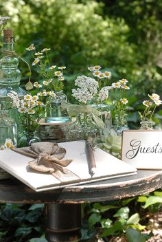 Guests attending one of our garden parties are asked to sign a special guest book. Forest Wedding, Garden Wedding, Dream Wedding, Wedding Day, Summer Wedding, Parks, Fresco, Magic Garden, Guest Book Table