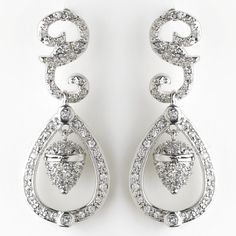 """Stunning vintage cubic zirconia earrings. These earrings were inspired by and worn by Princess Kate Middleton on her wedding day. 1.375"""" (Length)"""