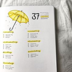 """83 Likes, 2 Comments - Bullet journal inspiration... (@bullet_journaling_it_is) on Instagram: """"Cute #doodle especially for the rainy months coming made by @buujooo #bulletjournalnewbie…"""""""