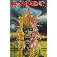 "Iron Maiden ""Iron Maiden"" Capitol Records LP Vinyl Record U. Pressing Album Cover Art by Derek Riggs Albums Iron Maiden, Iron Maiden Album Covers, Iron Maiden Tour, Death Metal, Hard Rock, Capitol Records, Lps, Lp Vinyl, Vinyl Records"