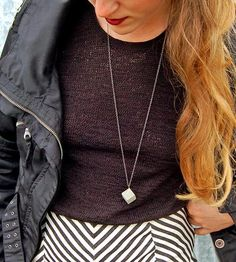 Cubed Concrete Necklace | Keep things ever-so-slightly edgy with this cubed concrete nec... | Necklaces