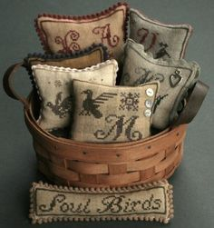 Soul Birds is the title of this cross stitch pattern from La D Da.