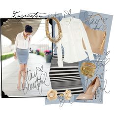 'Stay Beautiful In Stripes', created by rjaynne on Polyvore