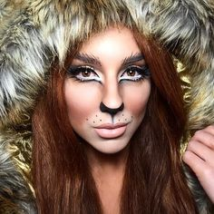"""""""A closer view of my makeup from last night at @ipsy party. #halloweenmakeup #halloweencostume #Halloween #lion #lioness #cat #sexykitty """""""