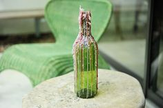 DIY Drip Wine Bottle Candle Holder | www.georgiapellegrini.com