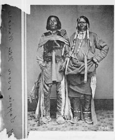 Sappix and his son, Wolf Run - Ute - 1869