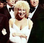 Midler at the premiere of The Rose, 1979 based on Janice Joplin life