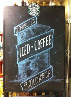 Starbucks Chalkboards by Lance Flores, via Behance