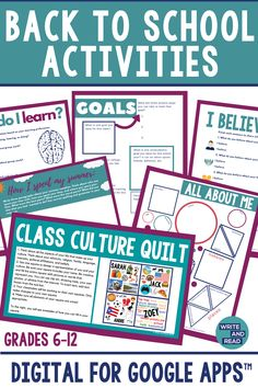 First Day Activities, Back To School Activities, School Resources, Teacher Resources, Secondary Resources, School Tips, Teaching Ideas, New School Year, First Day Of School