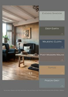 Edda Interior Design: Great colors from Pure & Original Paint Colors For Living Room, Bedroom Colors, Rugs In Living Room, Living Room Designs, Bedroom Decor, Castle Stones, Foster House, Dark Grey Rooms, Colours That Go Together