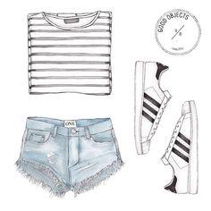Good objects - stripes and 3 stripes @adidaswomen @oneteaspoon_ #goodobjects