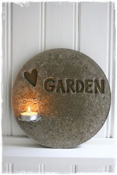 Concrete garden idea