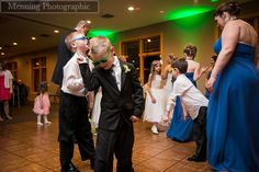 give child wedding guests fun props to dance with