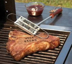 Dci BBQ Branding Iron / Does that perfectly cooked steak have your name written all over it? It does now. http://thegadgetflow.com/portfolio/dci-bbq-branding-iron-15/