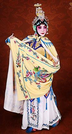 Chinese Beijing Opera Yuji Empress Costume and Headpiece Complete Set