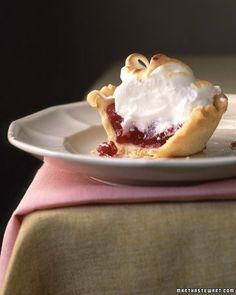 Mini Cranberry Meringue Pie Recipe | Cooking | How To | Martha Stewart Recipes