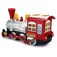 Train Toy For Kids Boys Girls w/Sounds Birthday Gift Car Blows Bubbles Ages 3+ #Kbrand