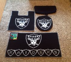Crochet Raiders Toilet Seat And Tank Cover By Marcelle