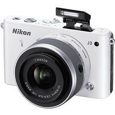 Nikon - 1 J3 14.2-Megapixel Digital Camera with 1 NIKKOR 10-30mm VR Lens - White