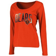 Chicago Bears Pro Line Women s Plus Size Sheridan Scoop Neck Long Sleeve T- Shirt - 875734887