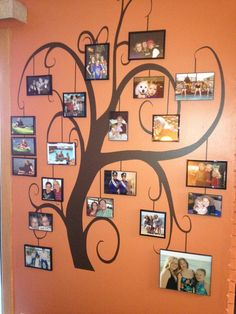 vinyl family tree wall decals   ... by Collection > Trees > Family Photo Tree   Giant Tree Wall Decals