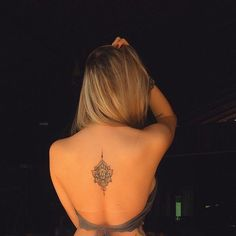 Mandala tattoo back placement