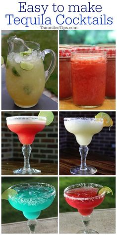 Super easy to make Tequila Cocktails! Including margarita recipes that you wouldn't expect! #cocktail #tequila #recipe