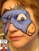 DIY Eeyore Face Paint #DIY #Disney #WinnieThePooh #Eeyores #FacePainting #Birthdays #Birthday #Parties #Party